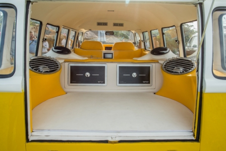 VW Limo Bali Mellow Yellow Interior from rear