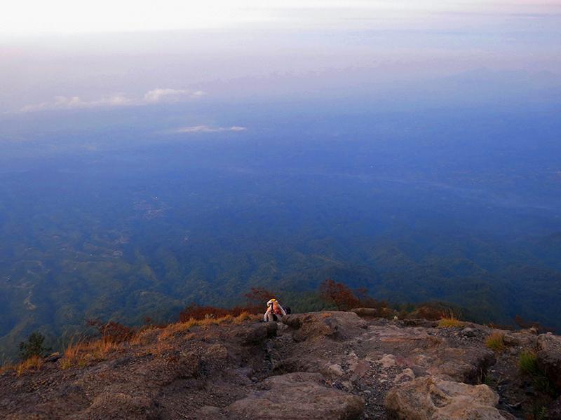 Climbing mount agung