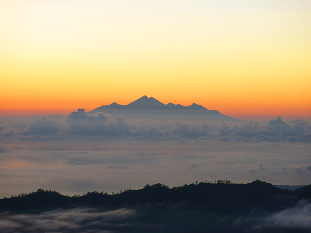 View of Mount Rinjani