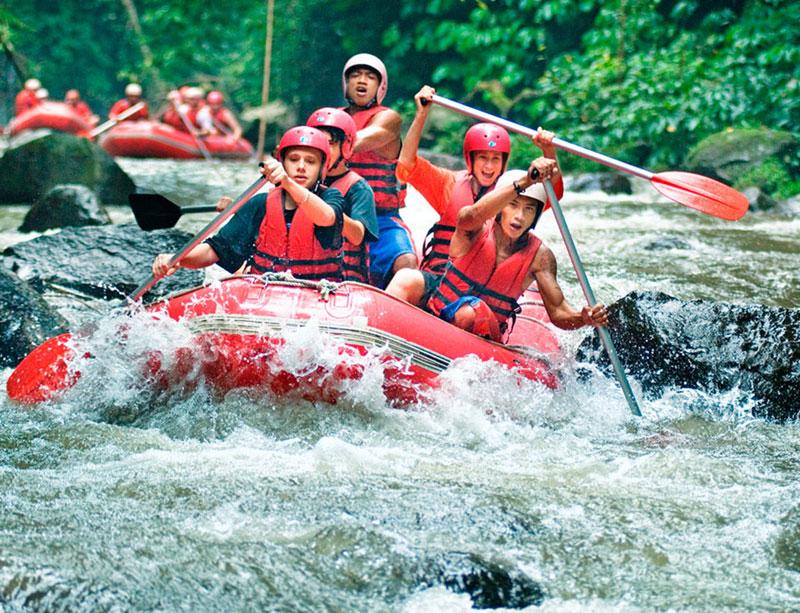 Rafting at Ayung River